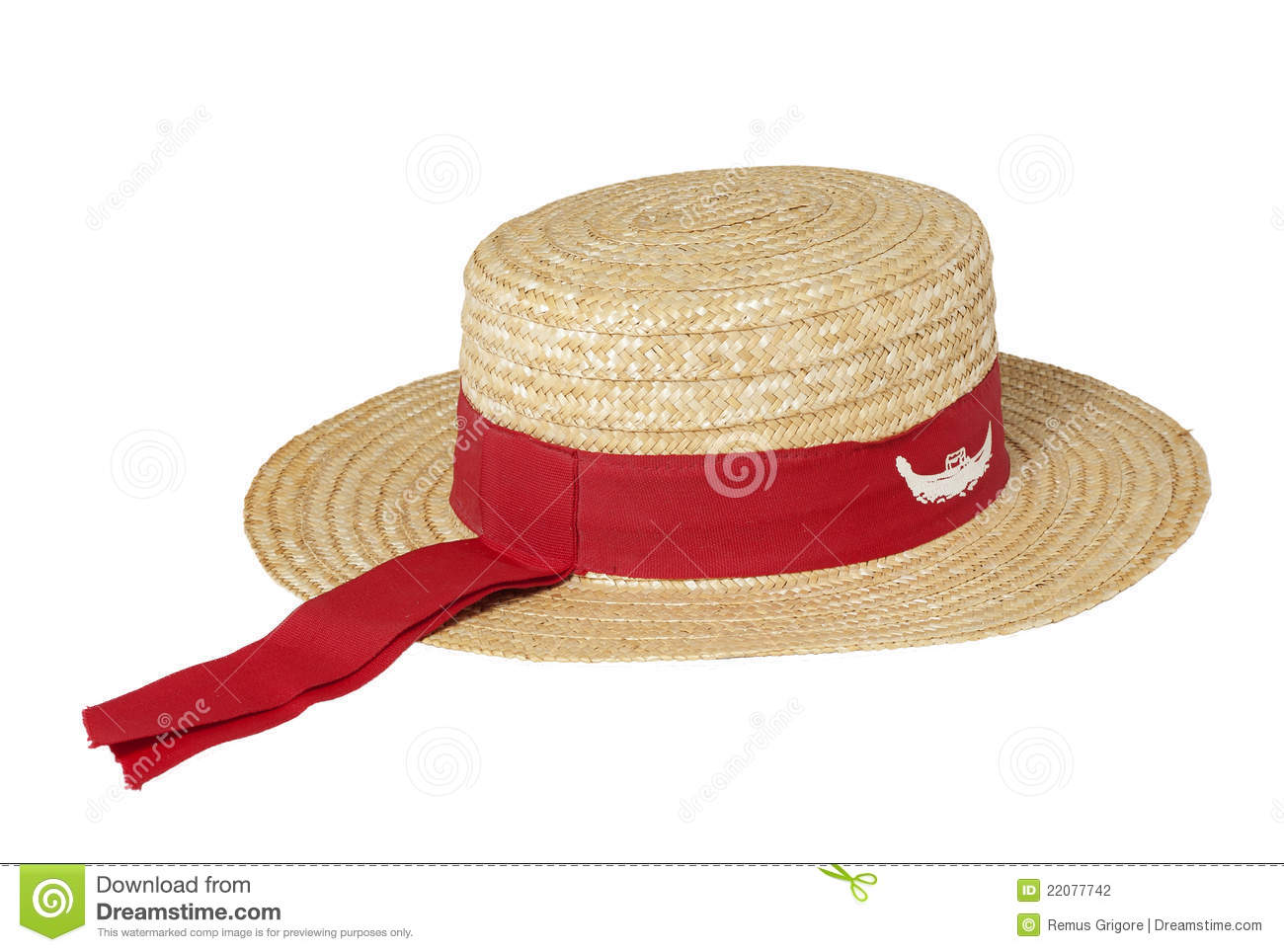 Gondolier Traditional Straw Hat Stock Photo - Image of venetian ... 8eb1ccde9