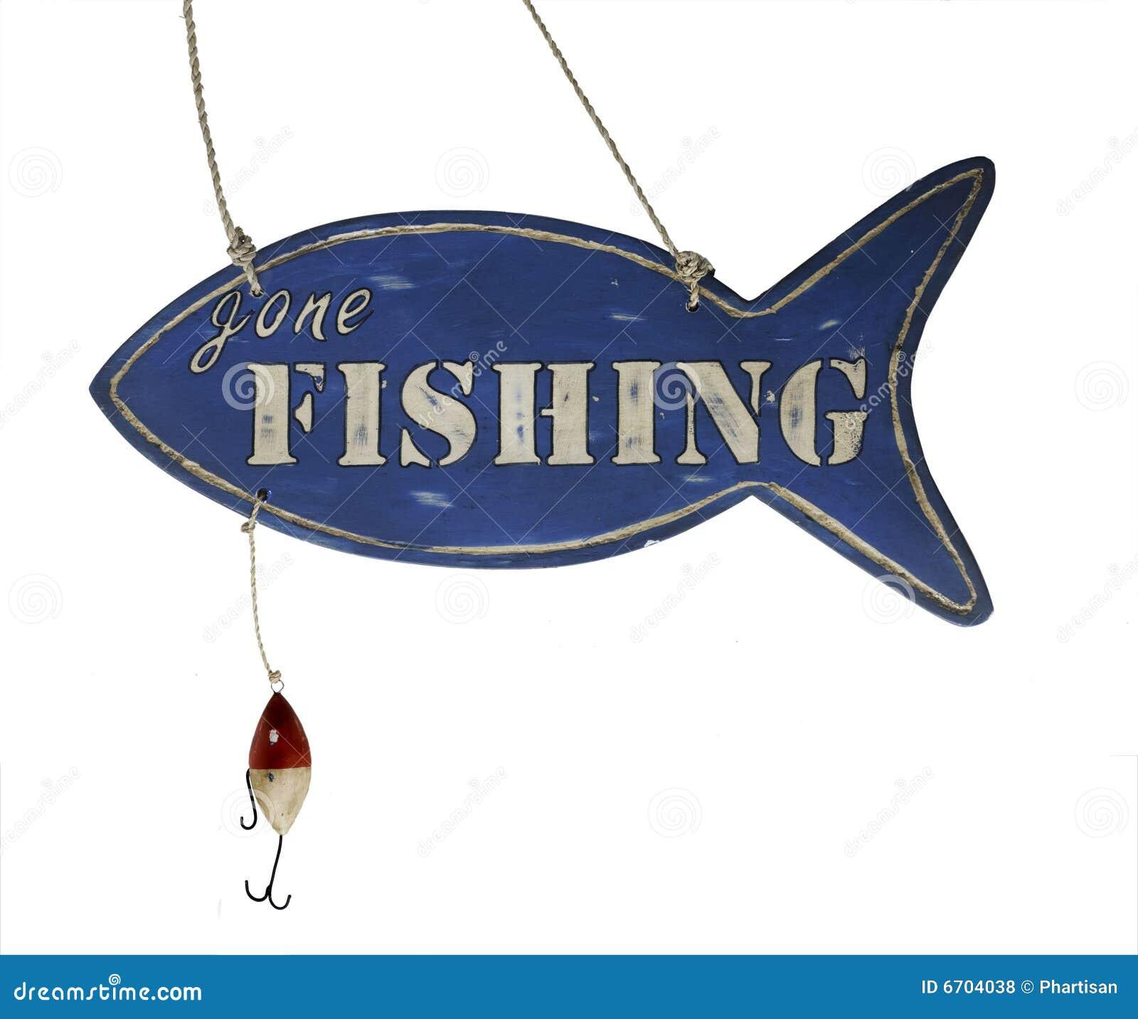 gone fishing sign clip art