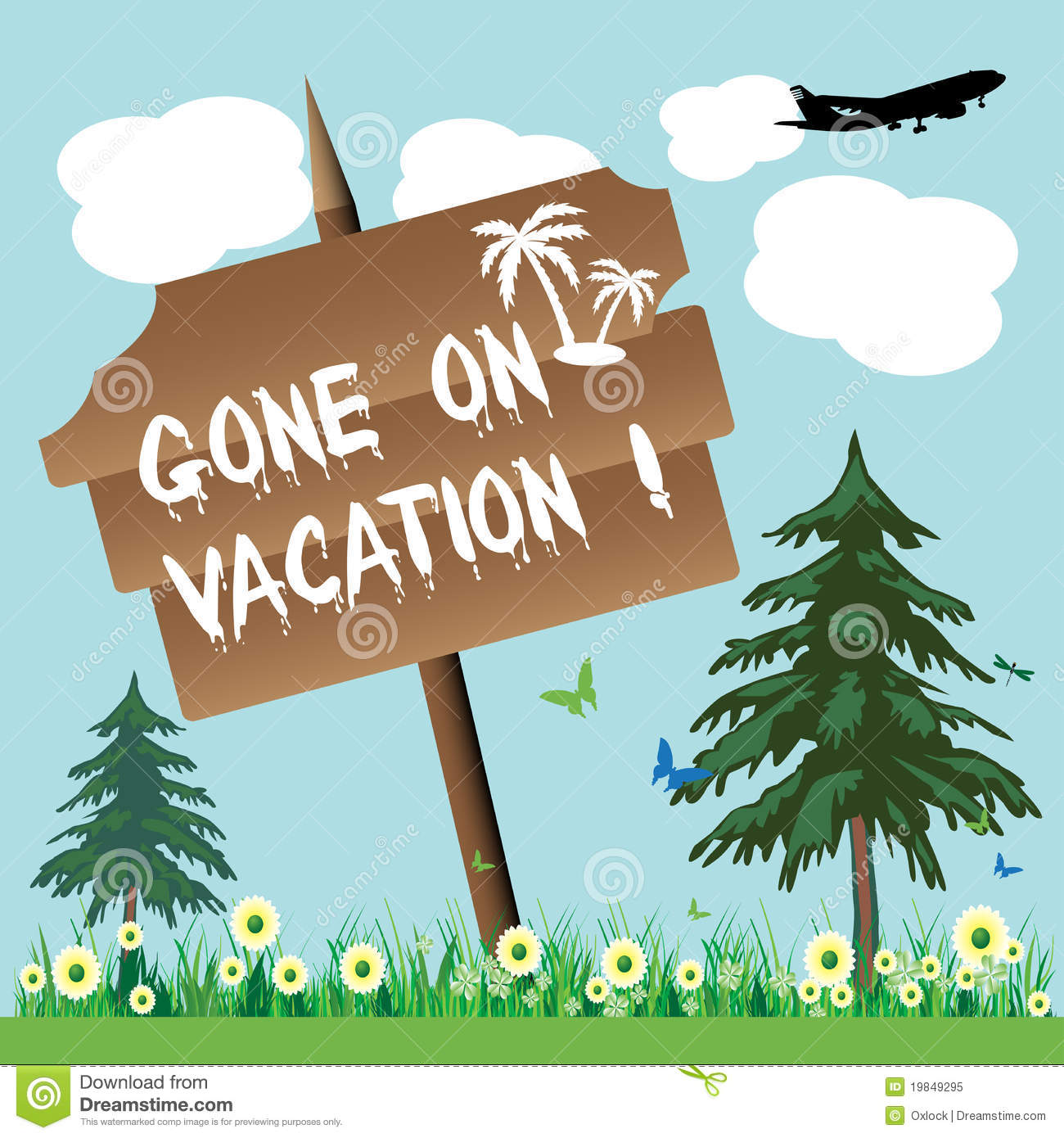 gone on vacation royalty free stock photo image 19849295 Wooden Cross Templates clipart wooden cross cartoon