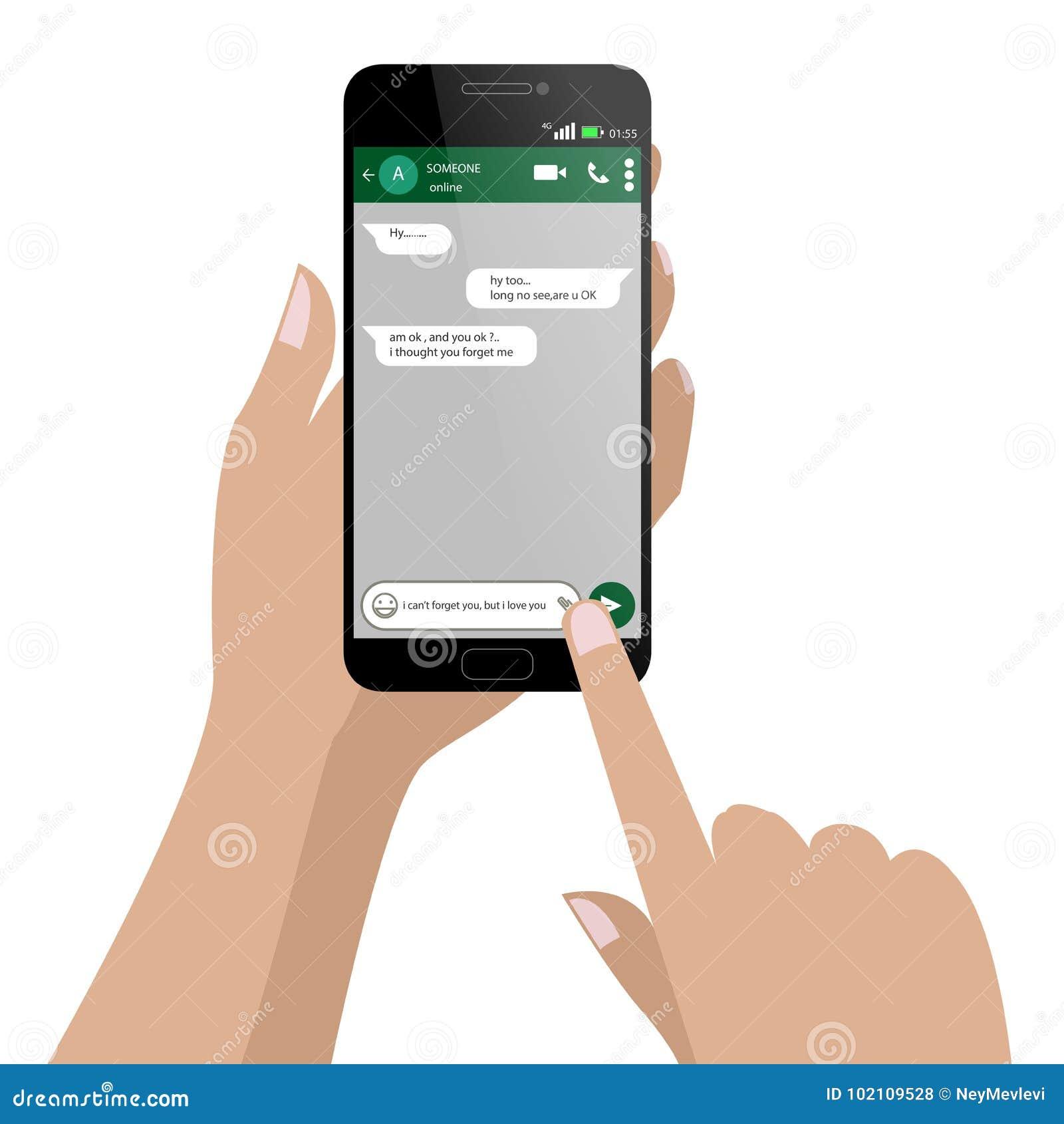 Goniec Chating i przesyłanie wiadomości nadokienny Ogólnospołeczny sieci smartphone