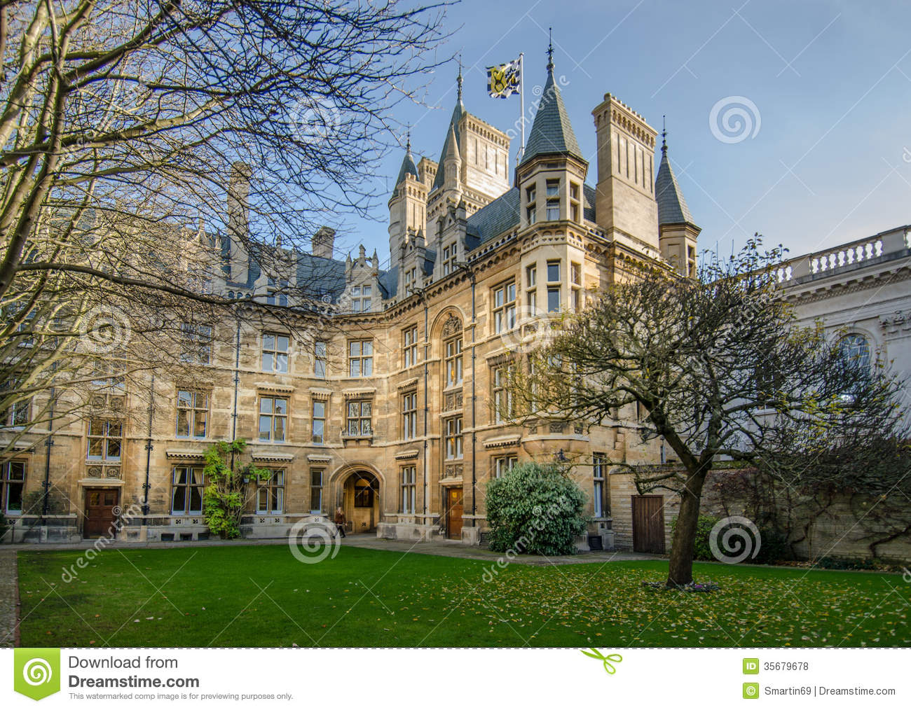 Gonville And Caius College Cambridge Stock Photo Image