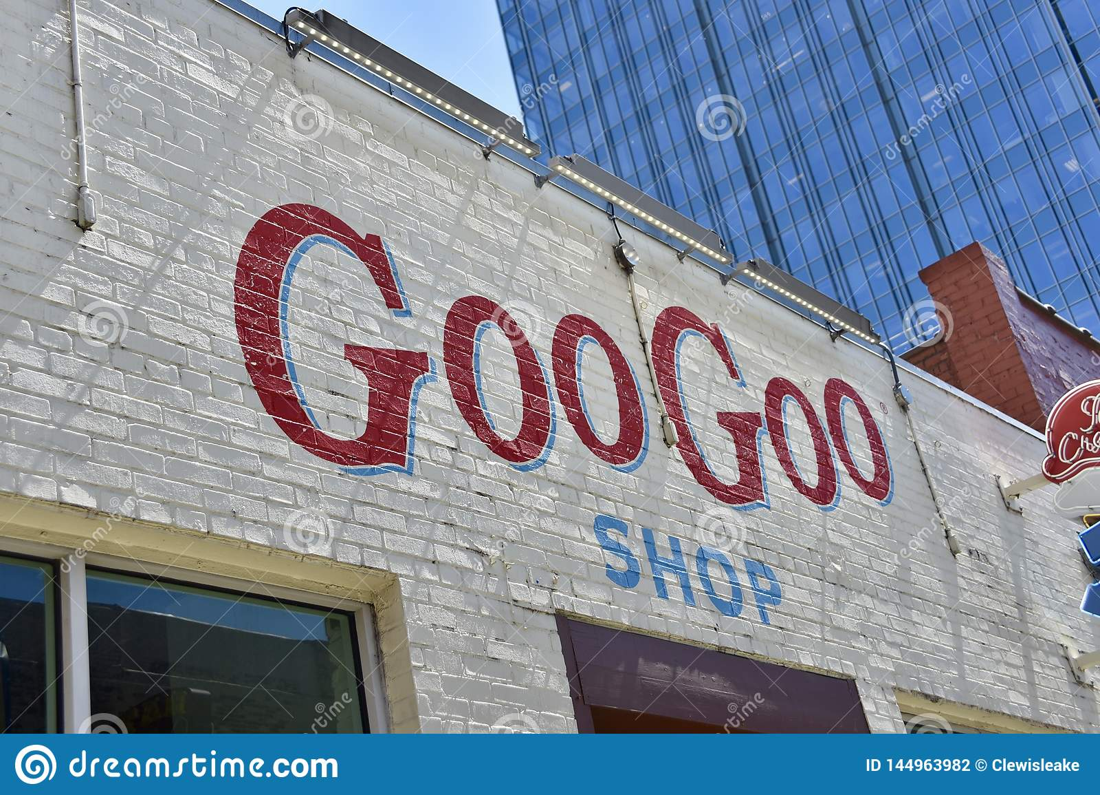 Goo Goo Clusters Shop, Nashville, Tennessee Editorial