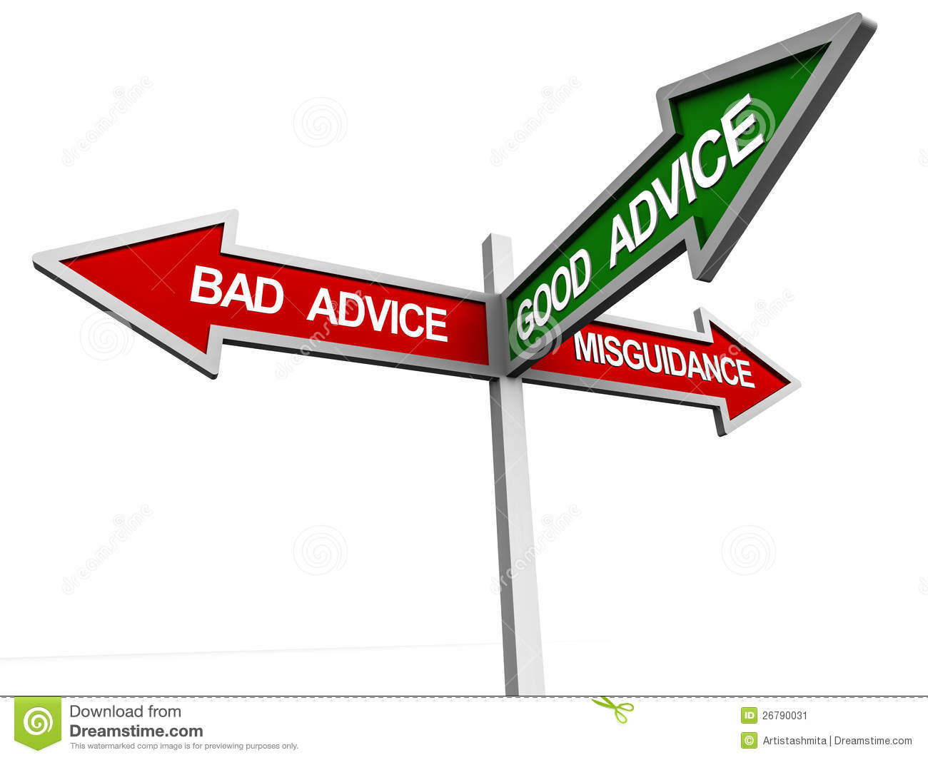 Good advice pointer amongst bad advice and misguidance, consulting and ...