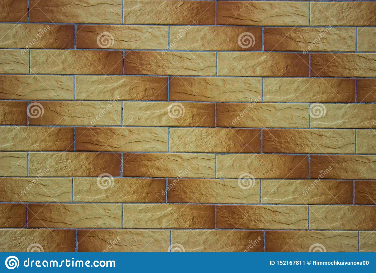 Decorative Brickwork Of Light And Dark Brown Shades Stock Image Image Of Solid Shade 152167811