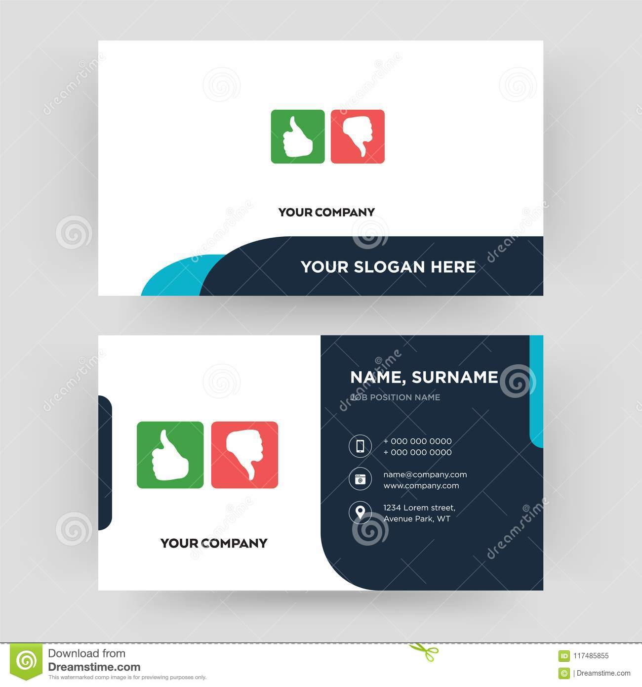 Good Bad Business Card Design Template Visiting For Your Company