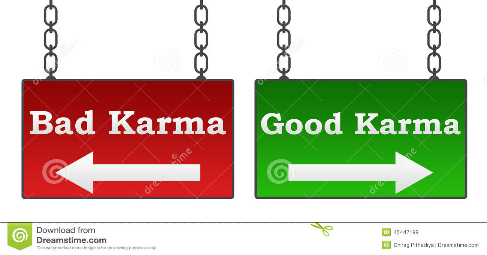 Good Bad Karma Stock Illustration Image 45447188