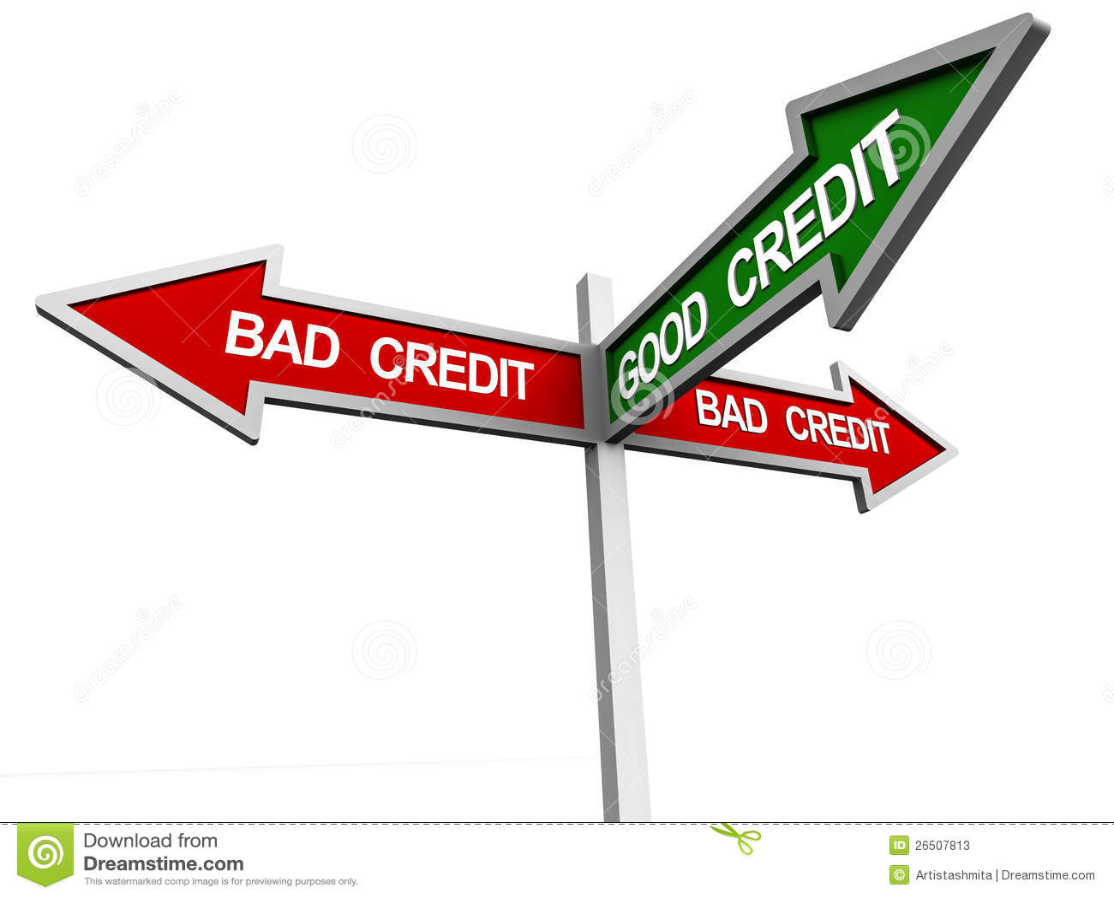 Good Vs Bad Credit - Two-Way Street Sign Royalty-Free ...