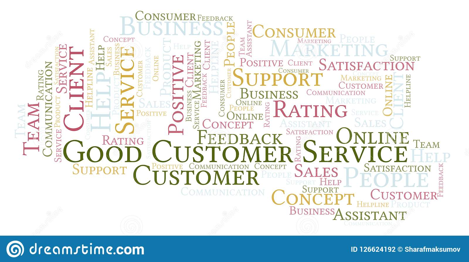 Good Customer Service Word Cloud  Stock Illustration