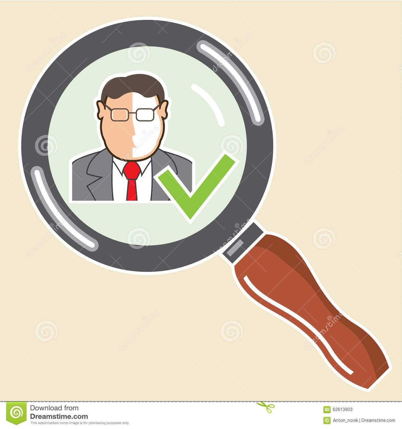 bad and good employee practice business concept stock vector good employee background check ok vector zoom stock photos