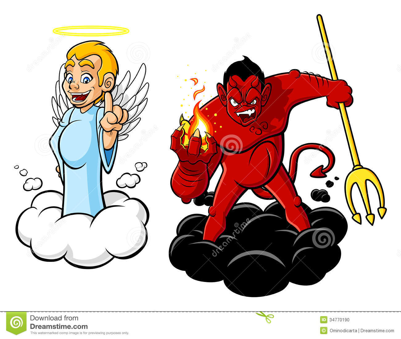 Cartoon Characters Evil : Good and evil stock vector illustration of characters