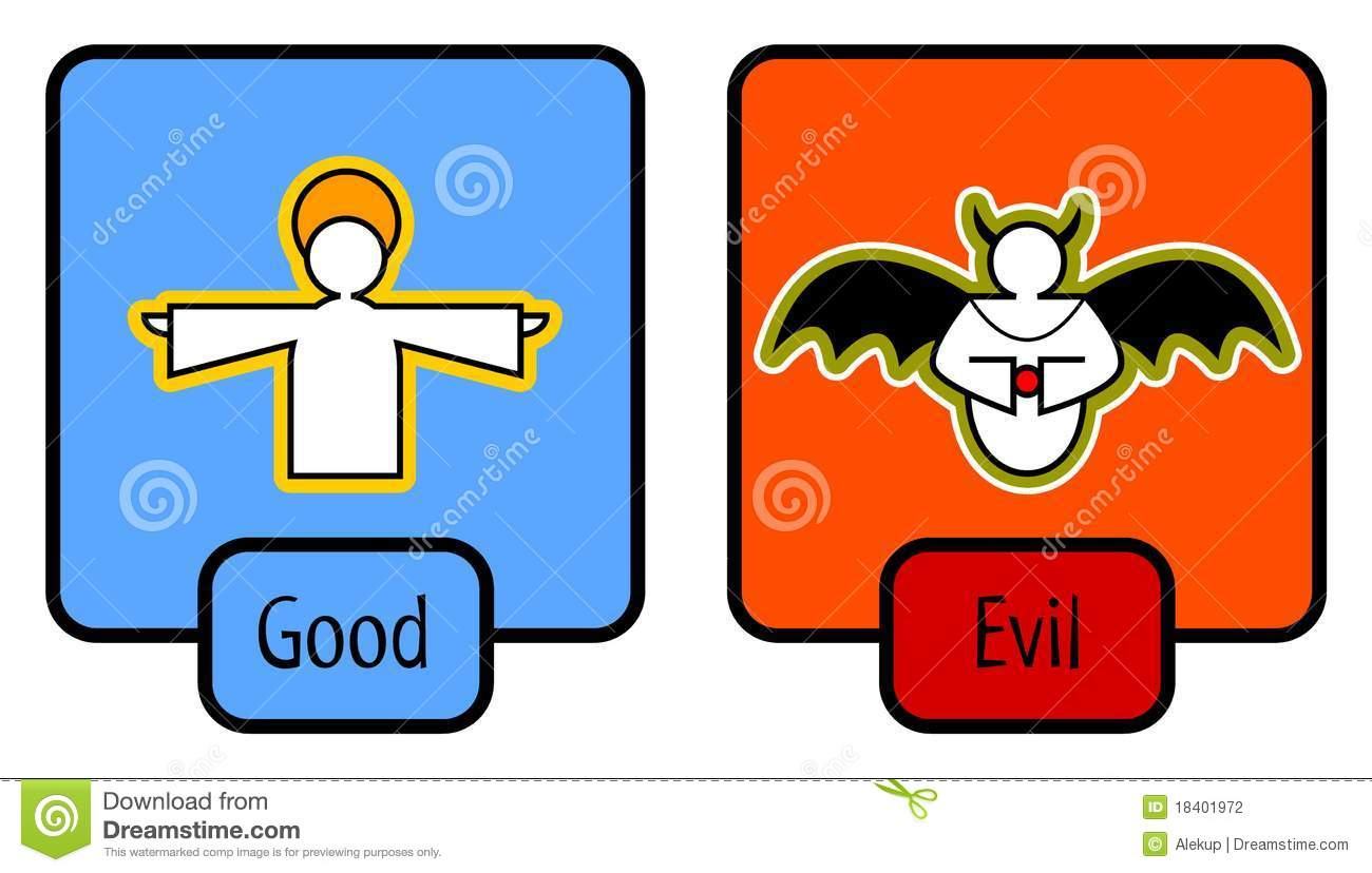 Good And Evil Symbols Stock Photography - Image: 18401972