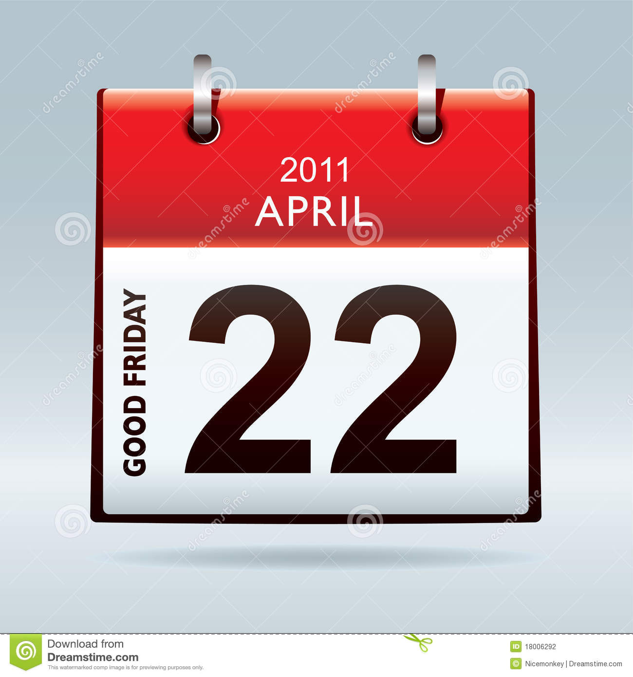 Calendar Good Friday : Good friday calendar icon stock vector image of