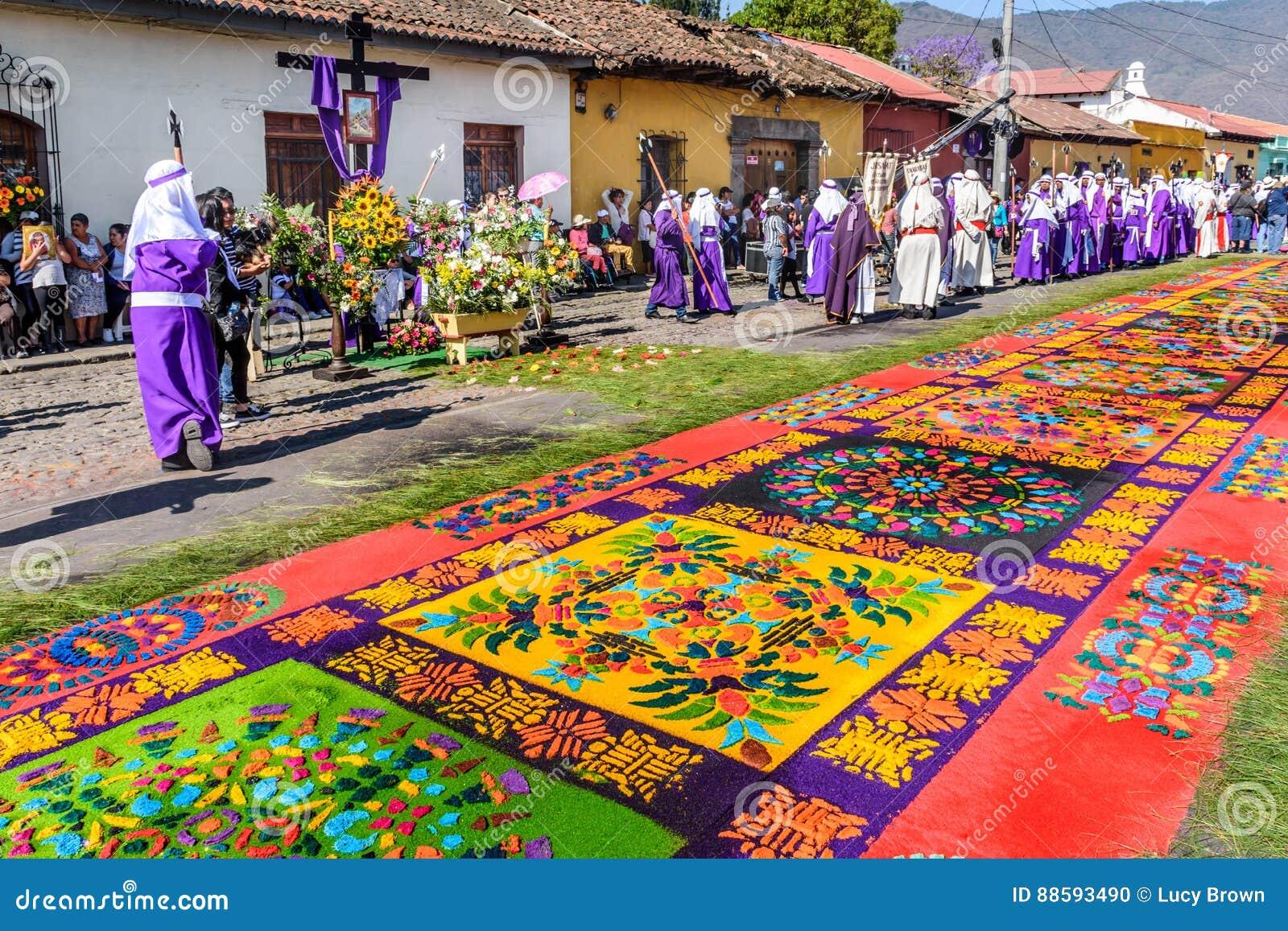 Good Friday carpet, Antigua, Guatemala