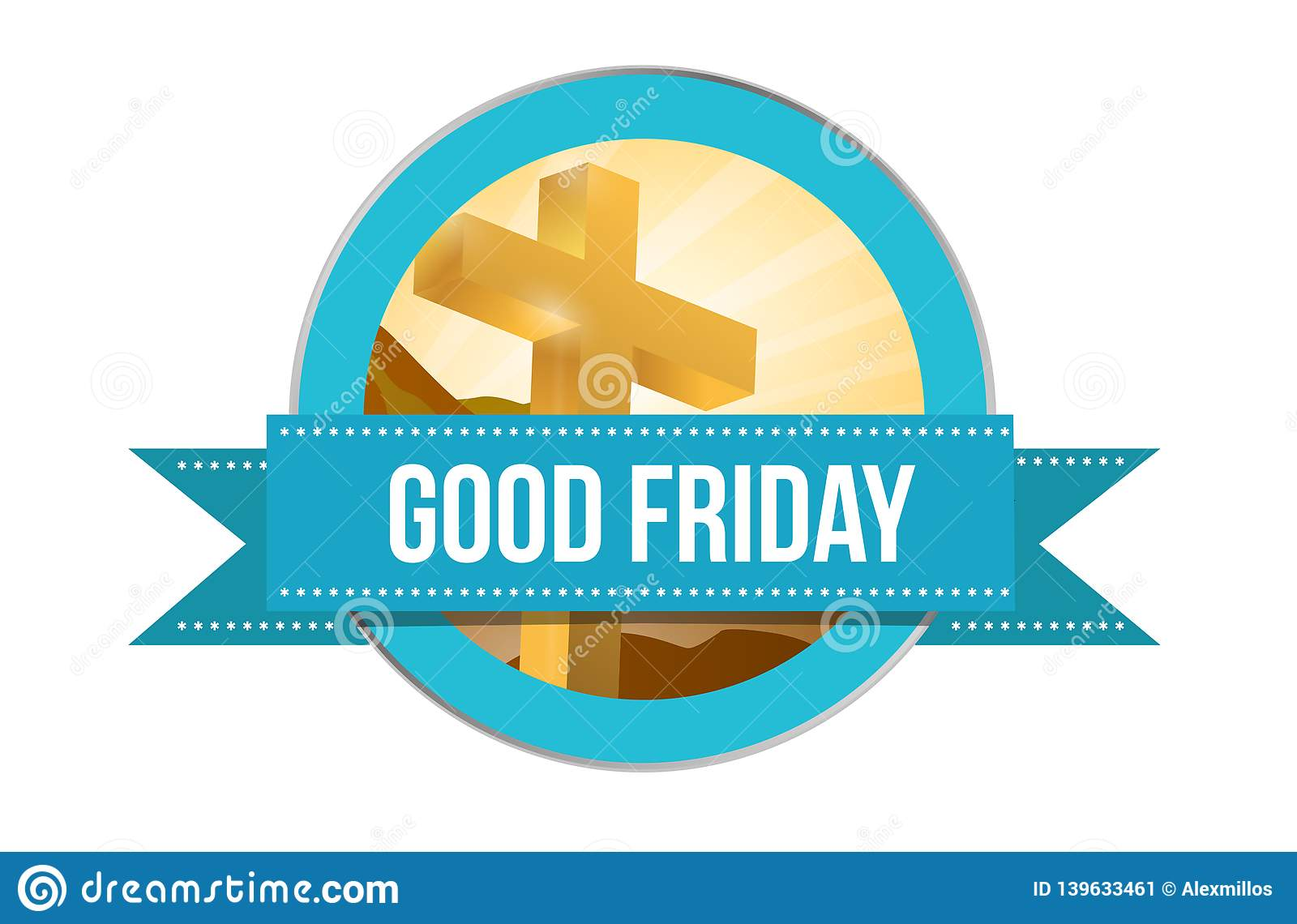 Good Friday day. Religious seal illustration isolated