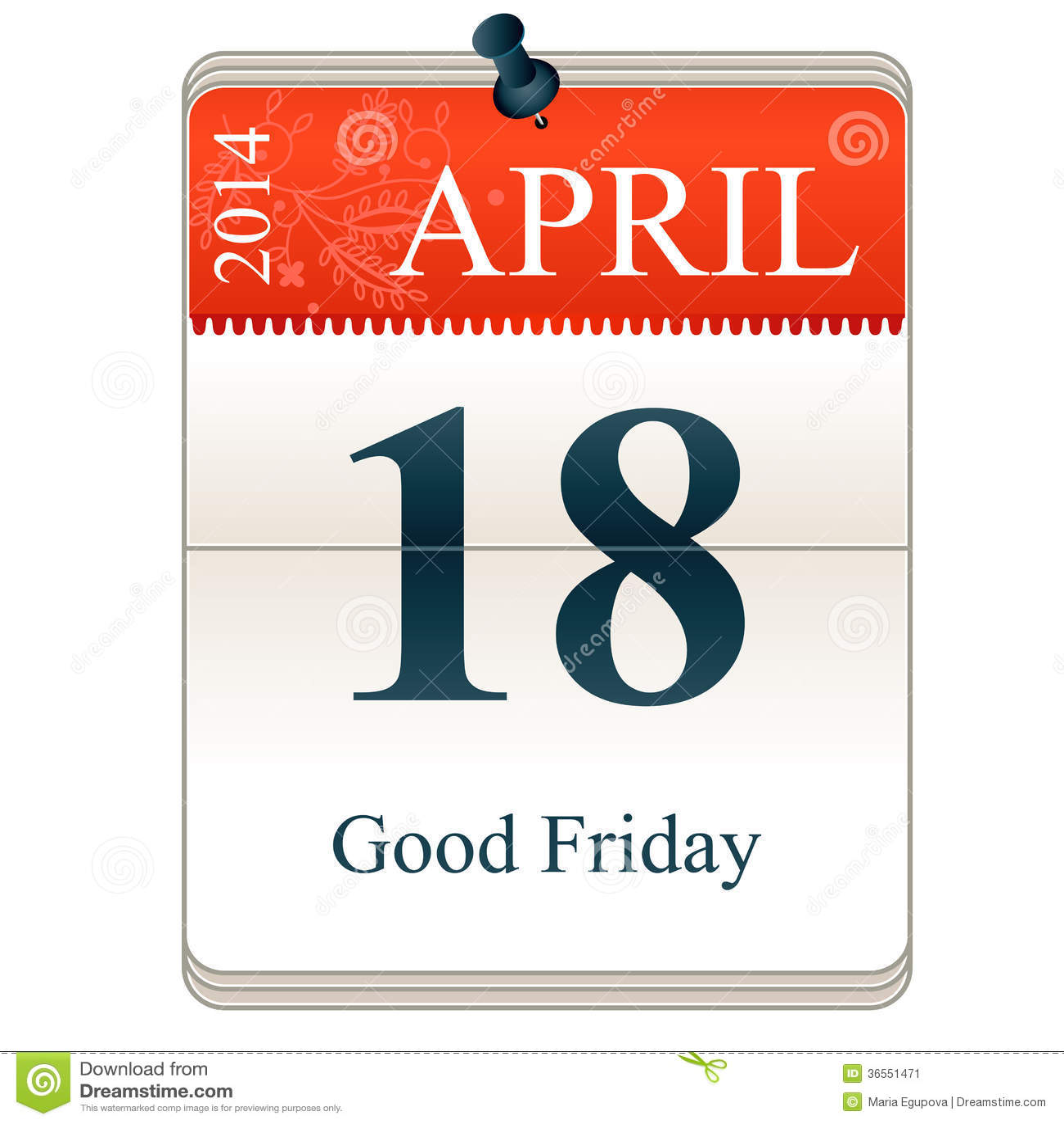 Calendar Good Friday : Good friday stock image