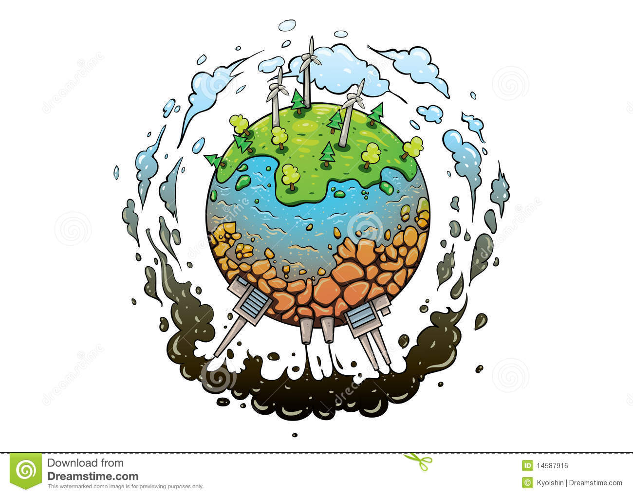 Good And Future Of Planet Earth Stock Vector - Image: 14587916