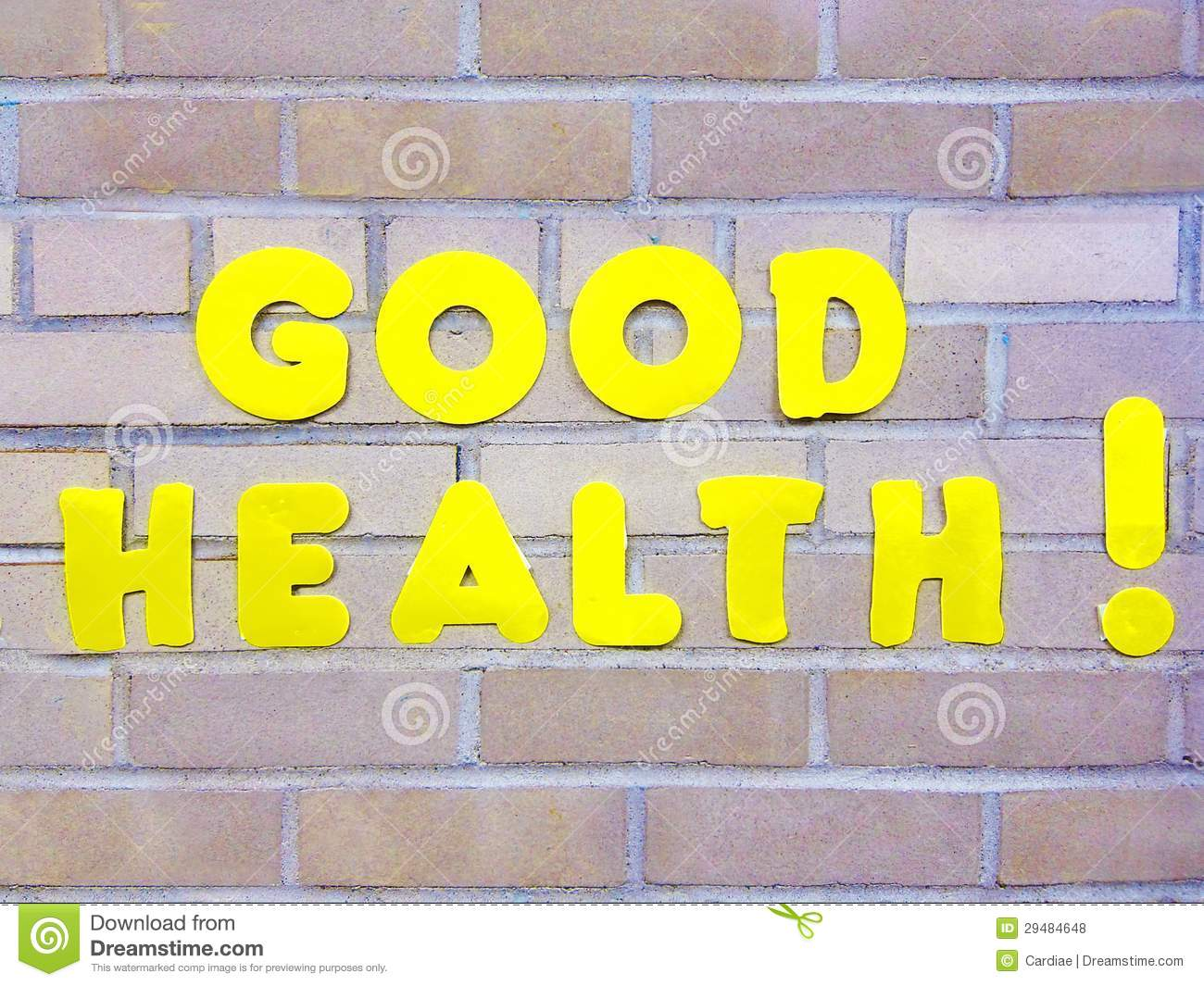 Good Health Sign Symbol Title Concept Royalty Free Stock