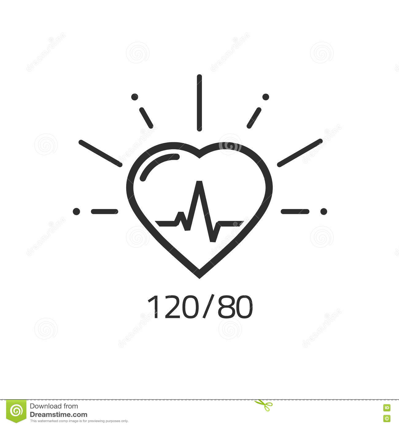 Good health vector outline icon blood pressure heart pulse good health vector outline icon blood pressure heart pulse cardiogram stock vector illustration of health flat 80063480 ccuart Images