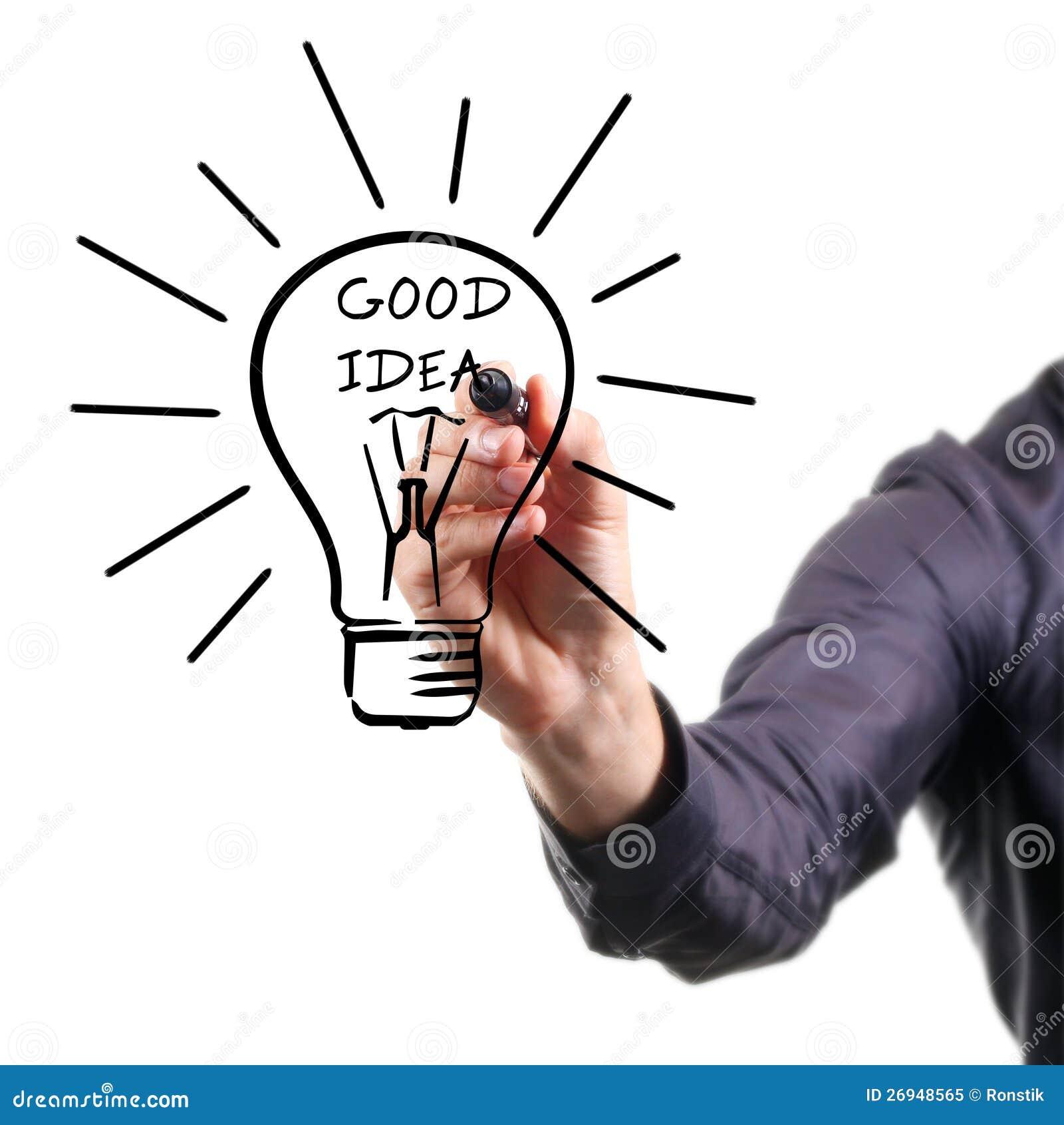 Good idea plus hard work equals success stock image for Good url ideas