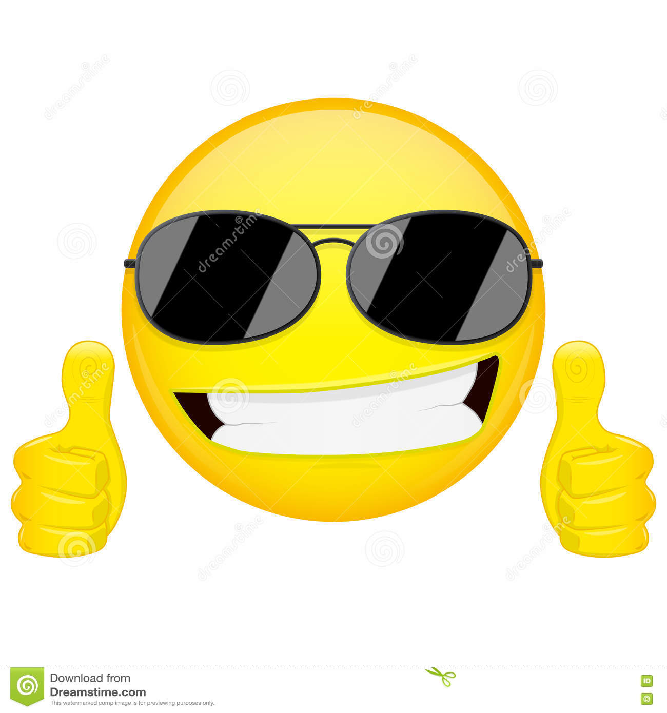 Thumbs Up Emoticon Emoji Stock Vector - Image: 57859992