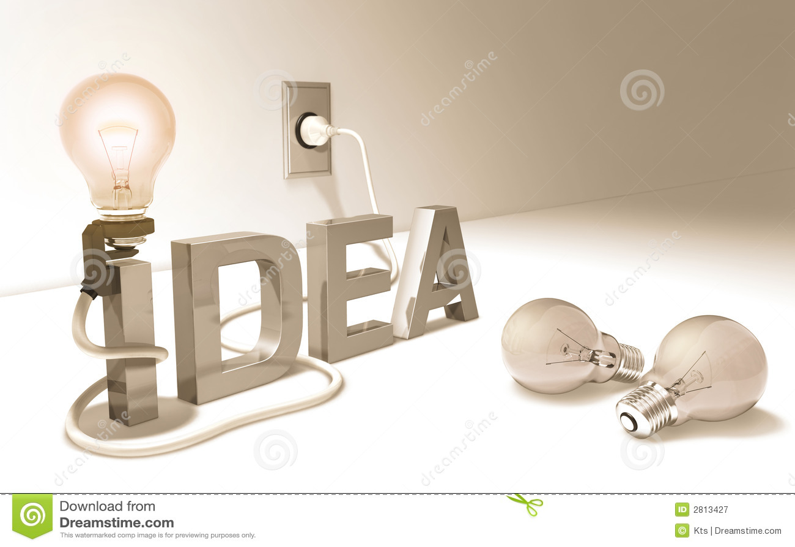 Good Idea Light Bulb Stock Illustration Illustration Of