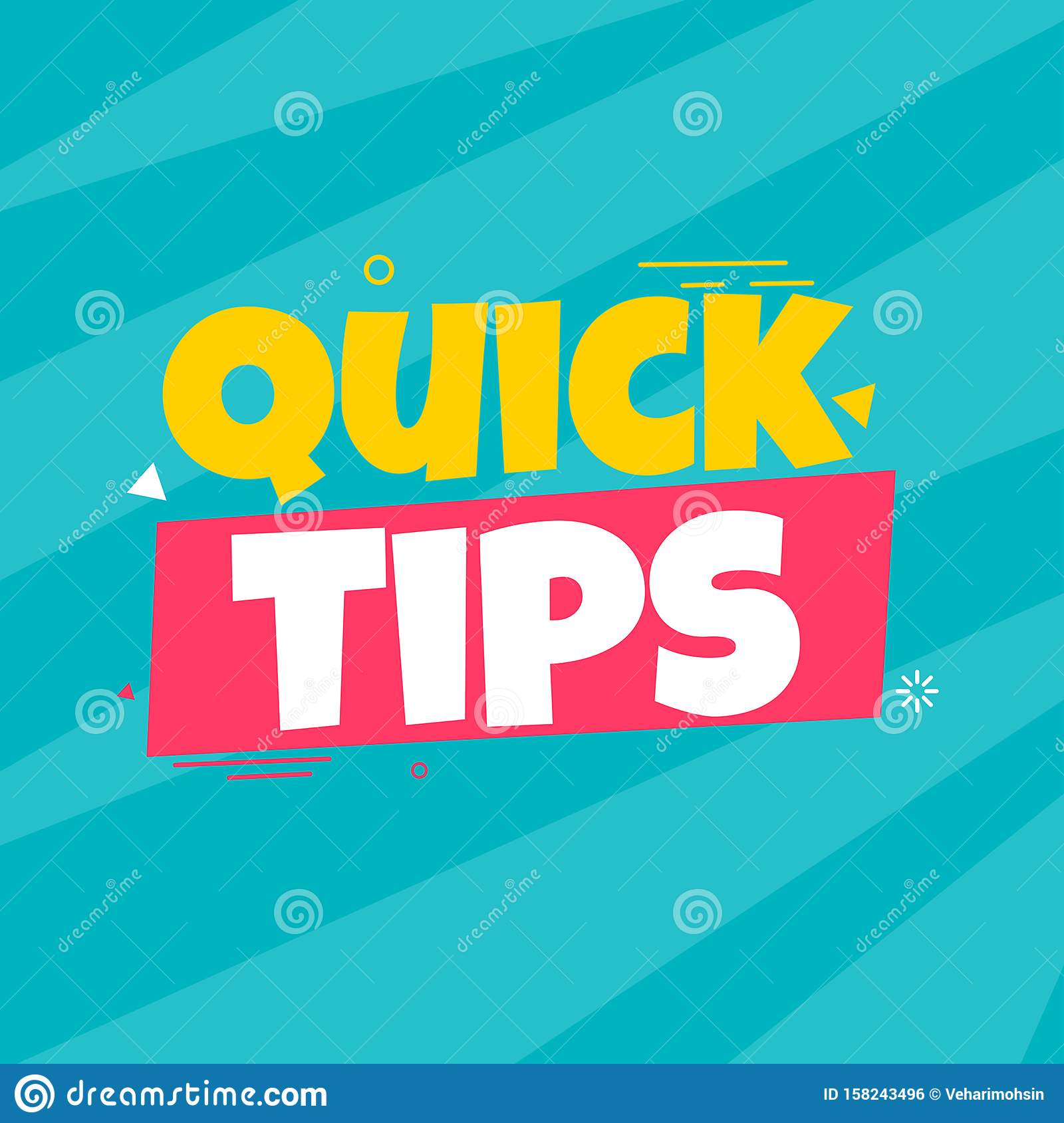 Quick Tips Badge Trendy Flat Vector On Yellow Background
