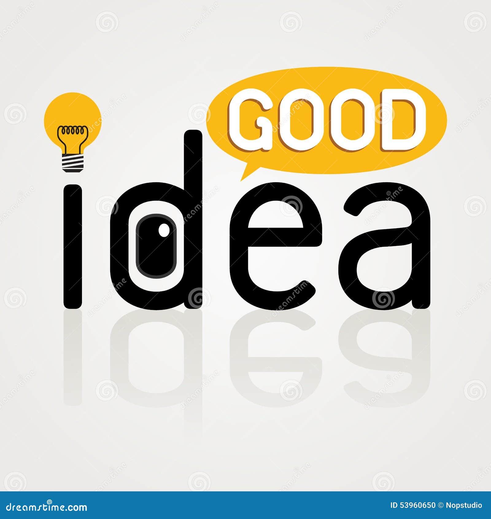 good idea wording graphic good idea icon design