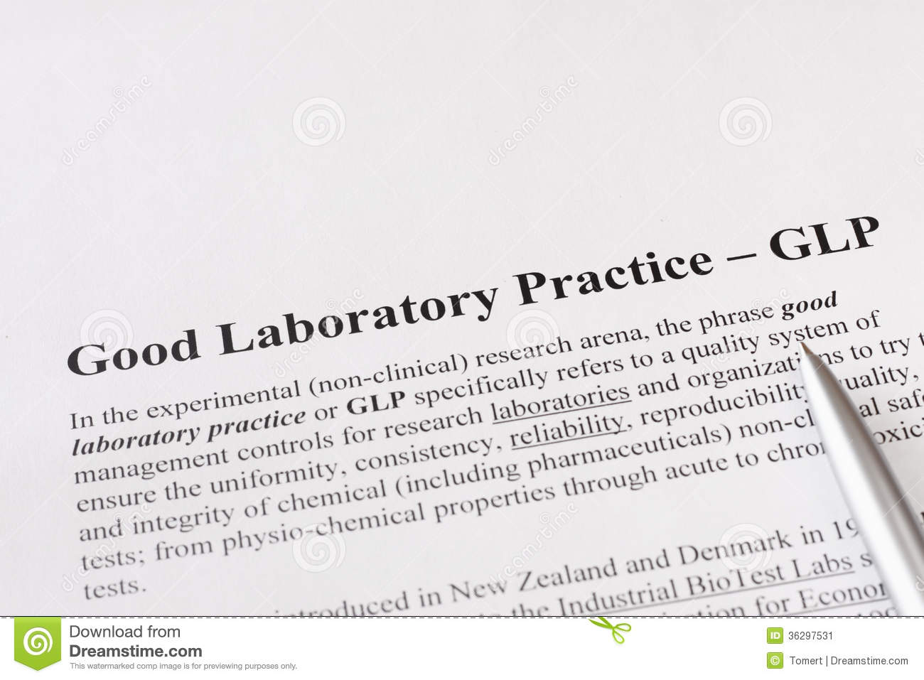 good laboratory practice The oecd principles of good laboratory practice (glp) ensure the generation of high quality and reliable test data related to the safety of industrial chemical substances and preparations the principles have been created in the context of harmonising testing procedures for the mutual acceptance of.