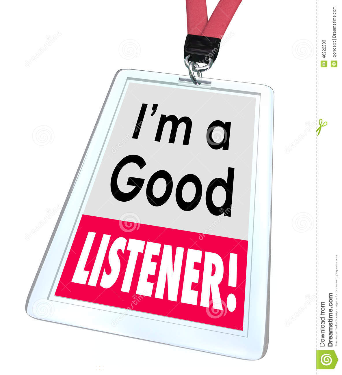 good listener employee badge tag customer service stock good listener employee badge tag customer service
