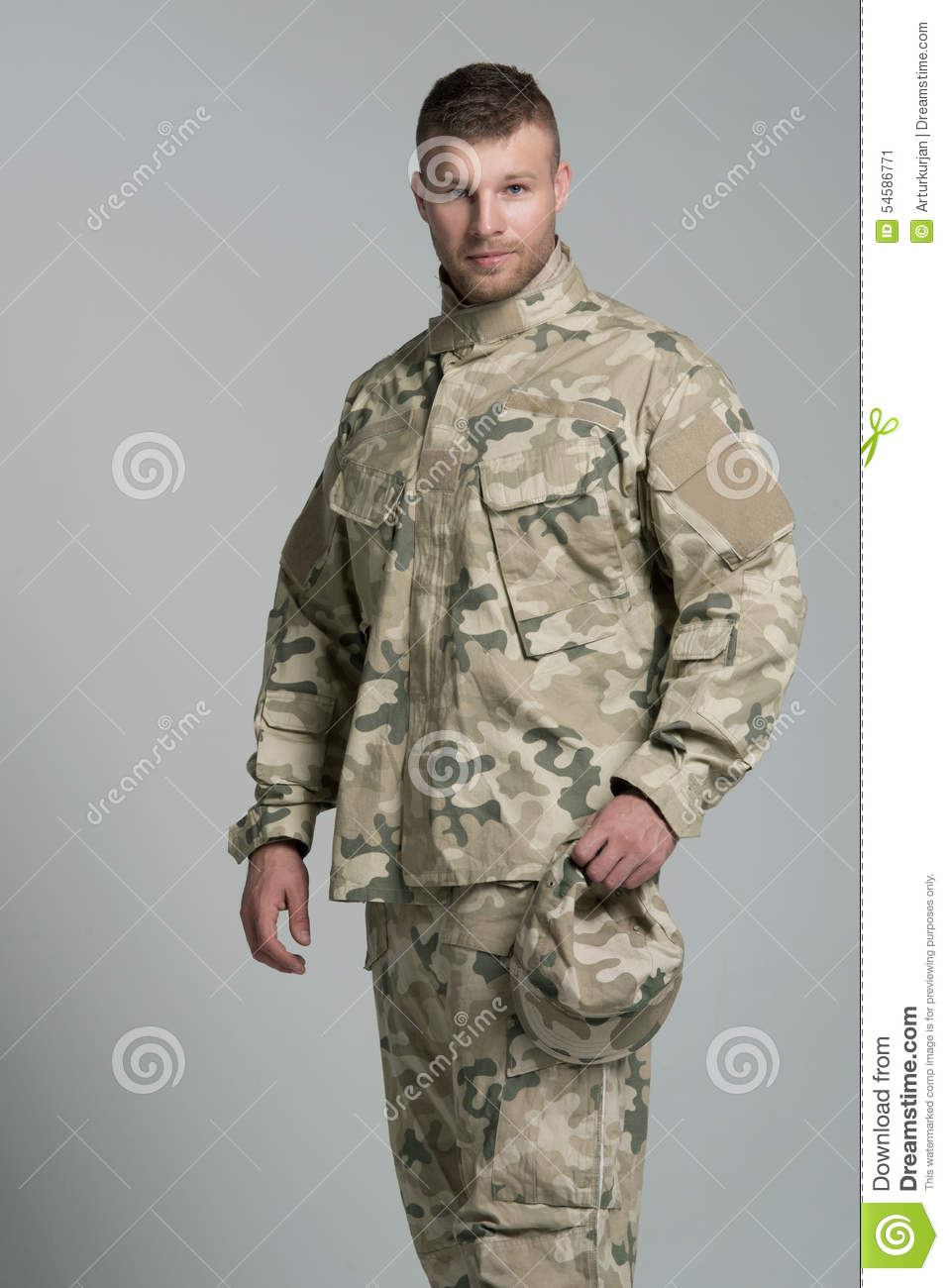 Not know, Muscle men in military uniform the