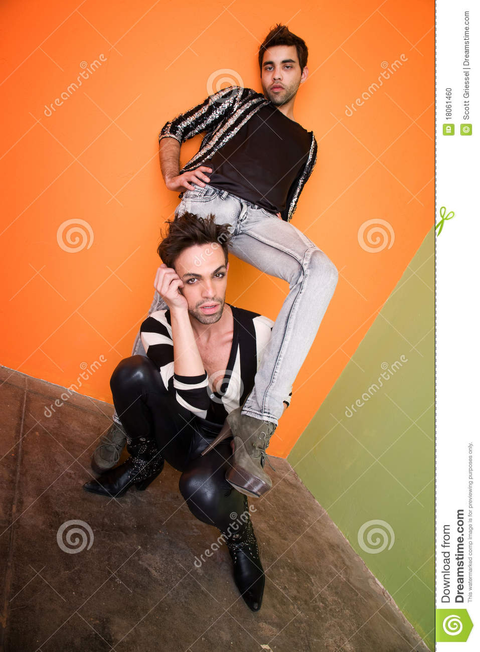 Gay Sexy Download with good looking and gay couple stock photo - image: 18061460