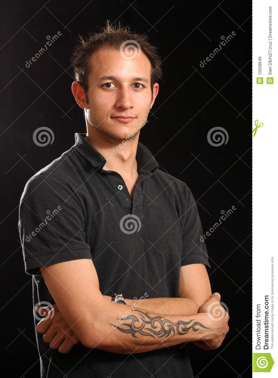 Good Looking Young Man In Studio Royalty Free Stock Image ...  Good Looking Young Man