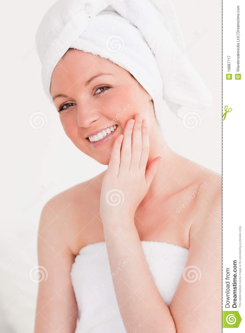Good Looking Young Woman Wearing Towel Royalty Free Stock ...