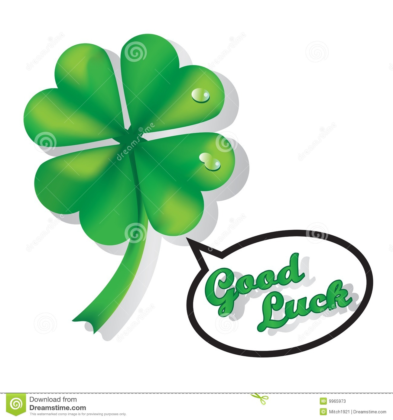 Good luck clover four leafs illustration isolated over white ...