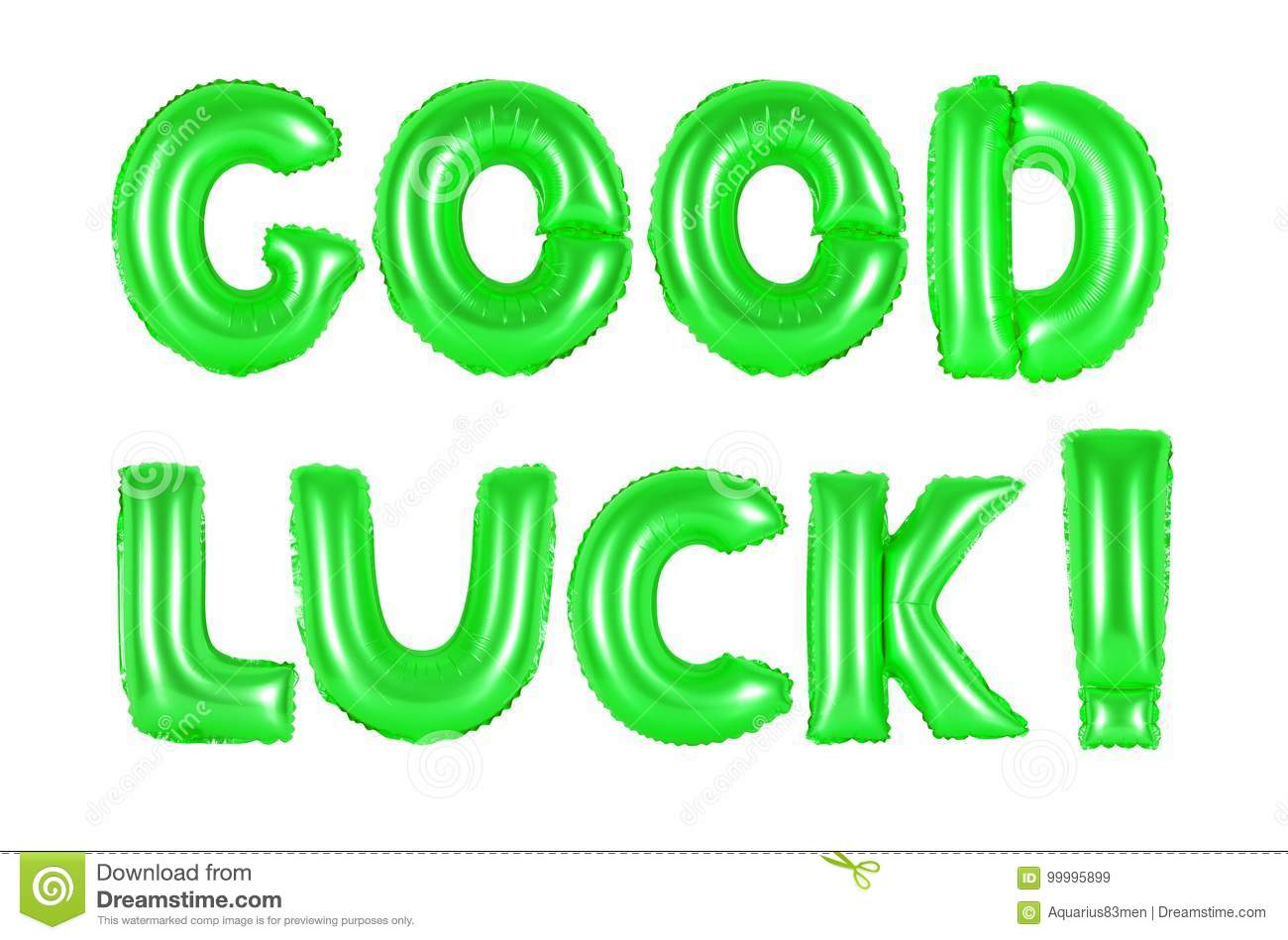 Good luck, green color stock image. Image of creative - 99995899