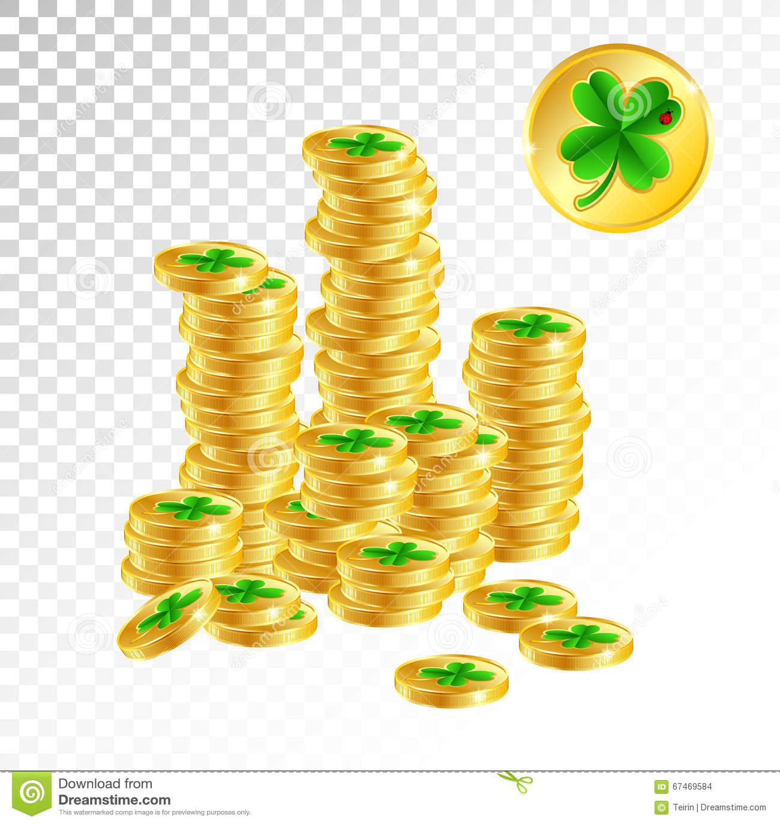 good luck money stock vector image 67469584