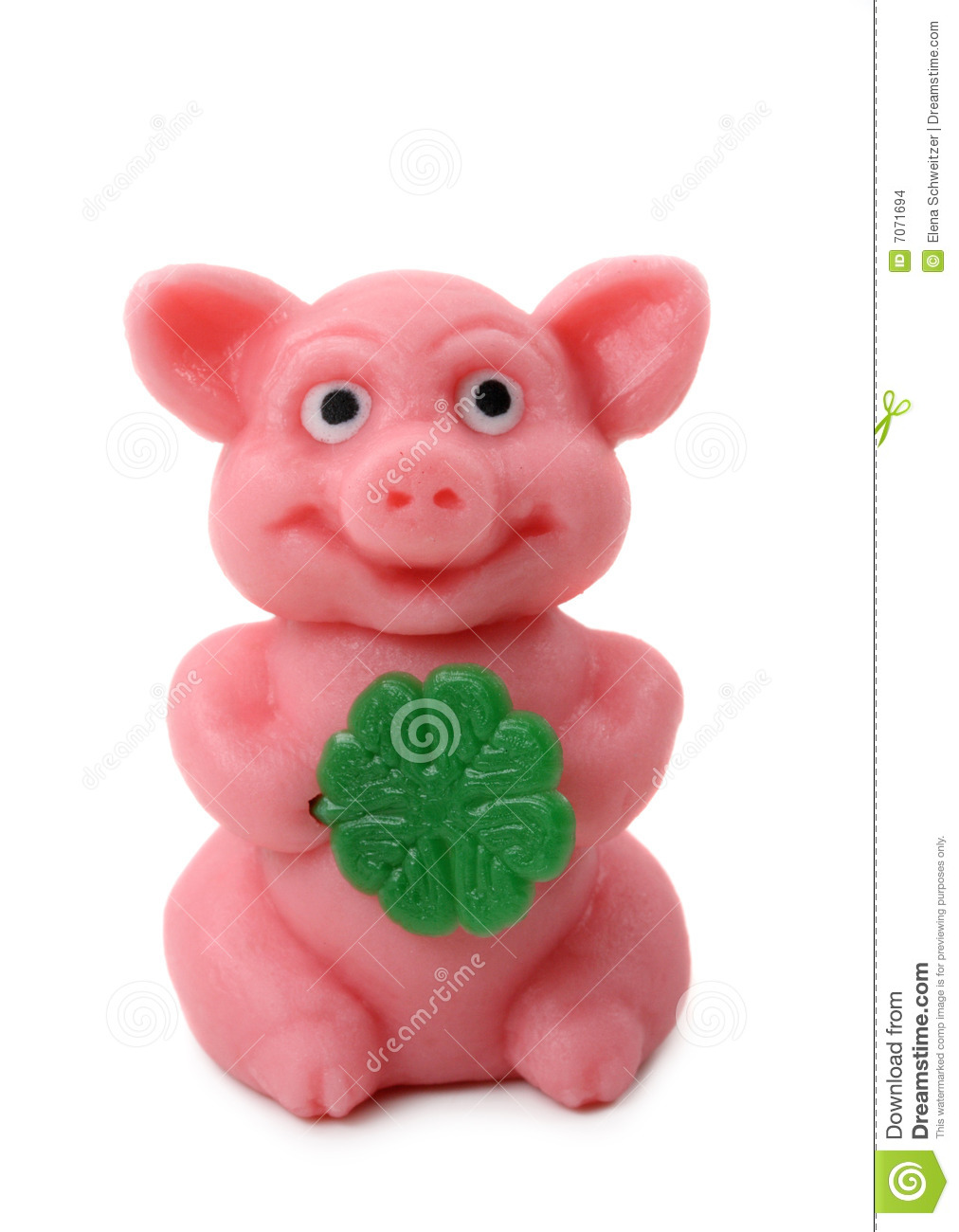 Good Luck Pig Stock Photo Image Of Symbol Pink Year 7071694