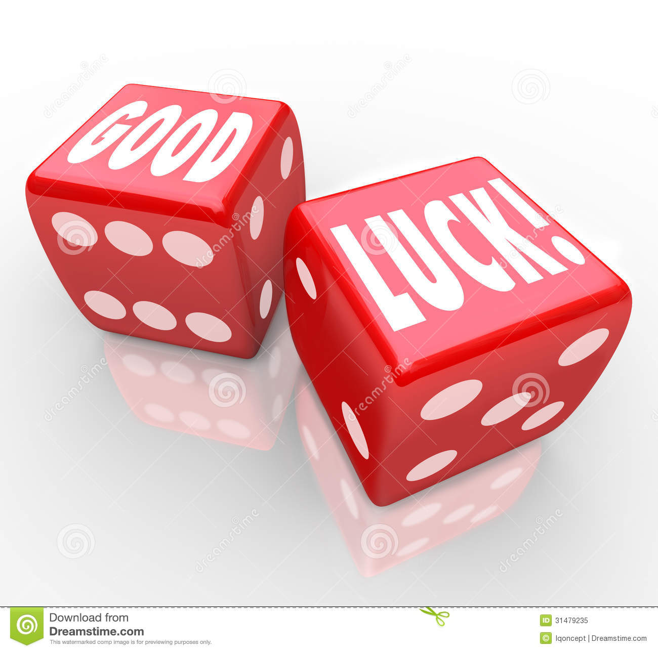 Good Luck Red Dice Words Favorable Fortune Royalty Free Stock Photo ...