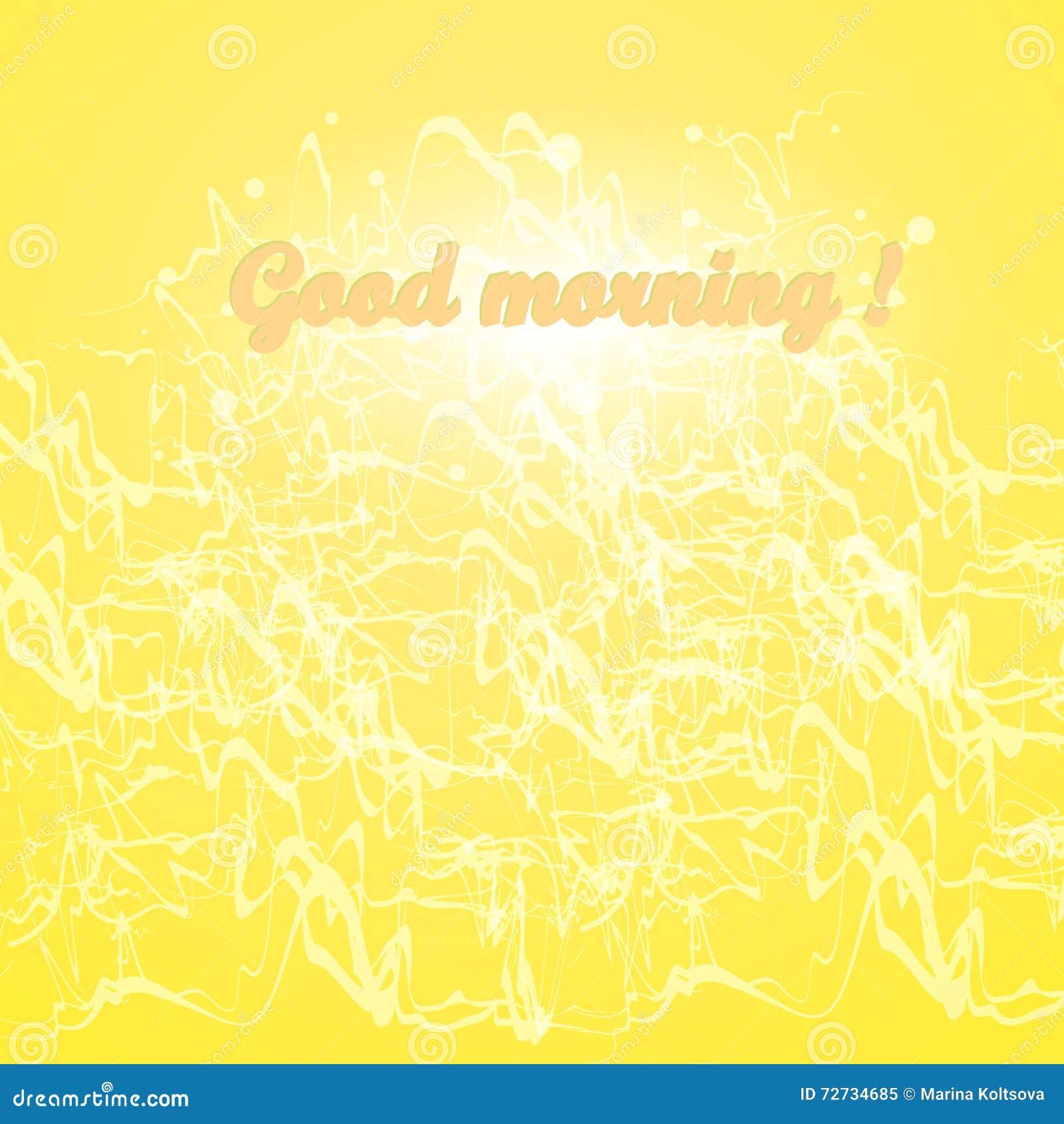 good morning background splashing waves glow vector image abstraction phrase 72734685 Black Coffee Good For You Good Morning Note Stock Vector Image