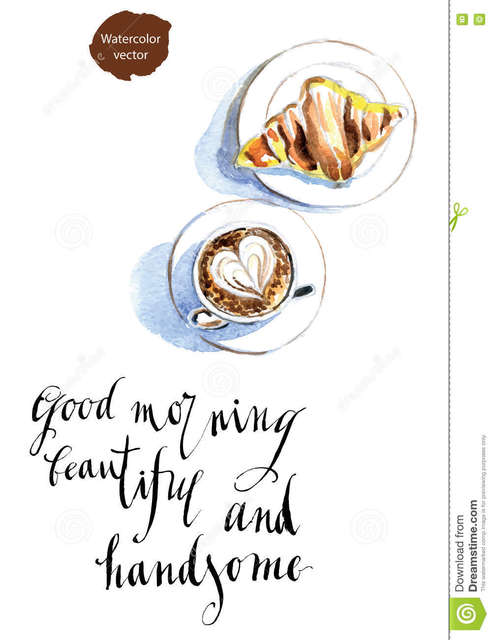 Good Morning Beautiful And Handsome Stock Vector Illustration Of