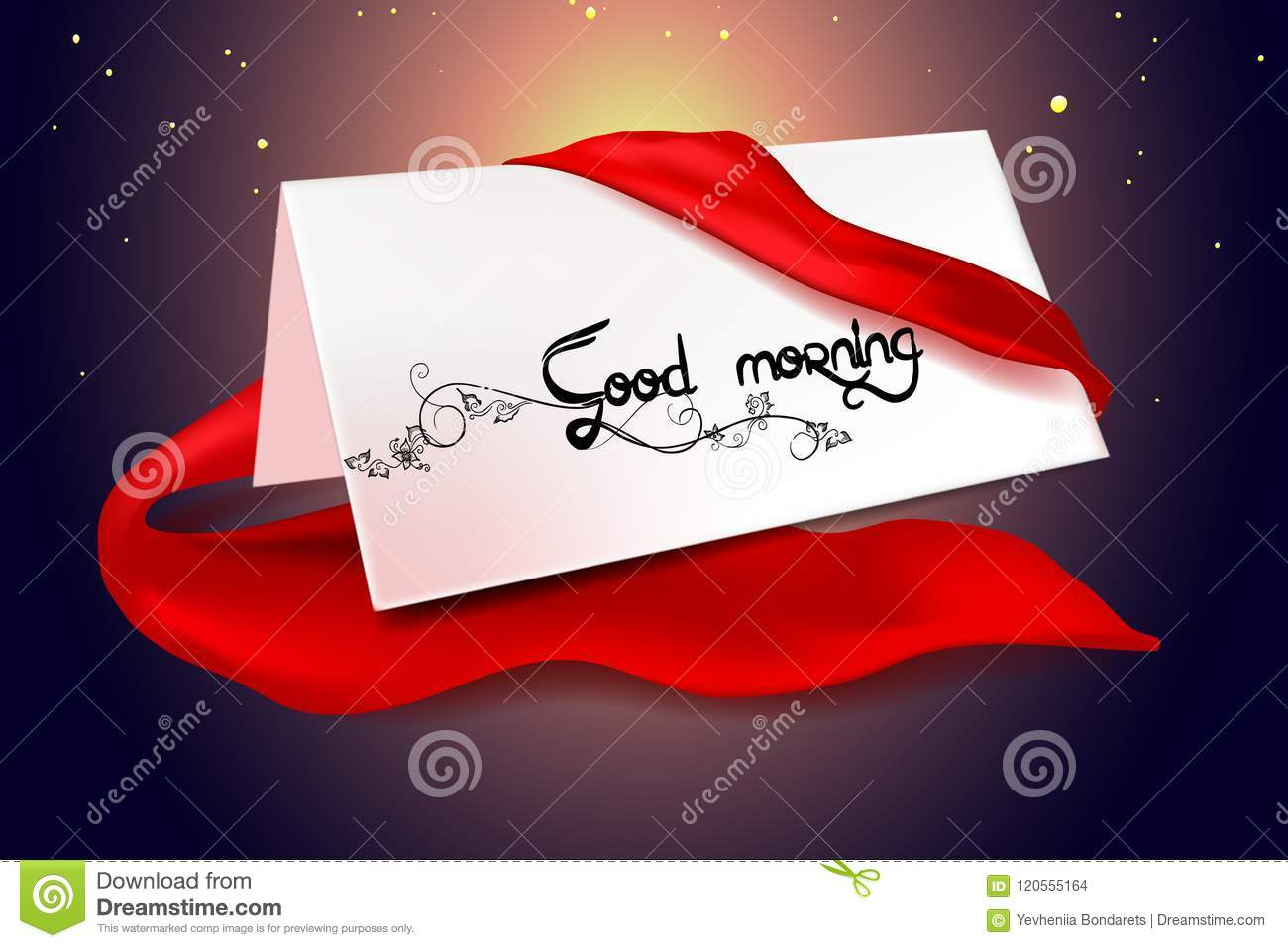 Good Morning Card Illustration Vector Stock Vector Illustration Of