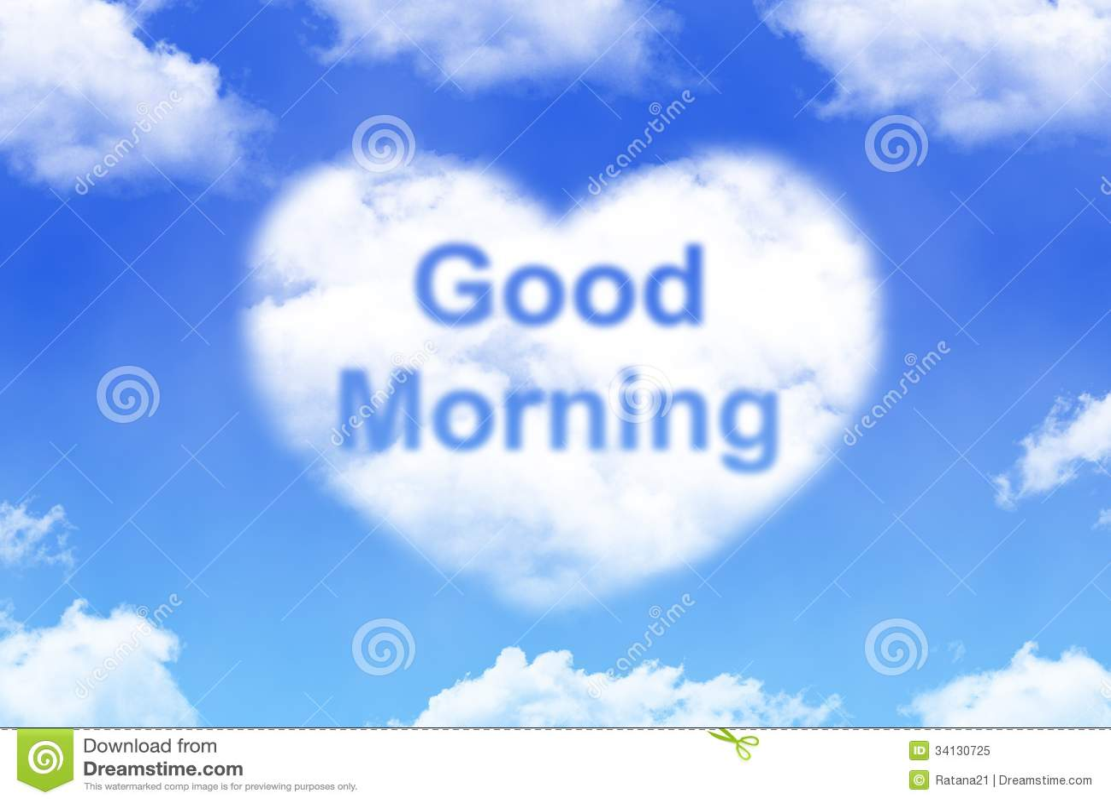Good morning - cloud word