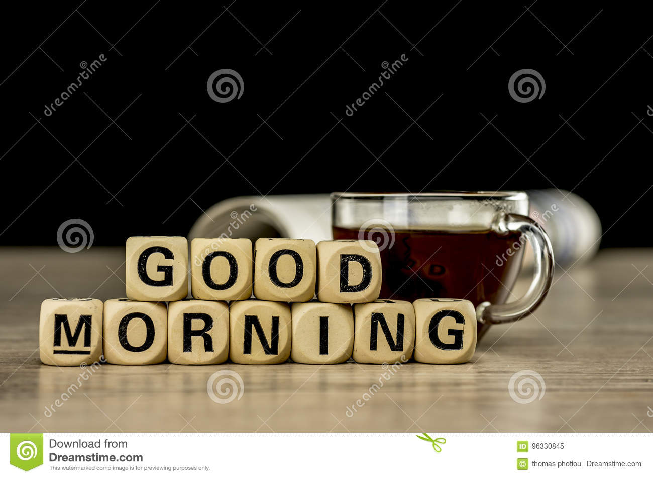 Good Morning Coffee Letter Stock Photos  Download  Images