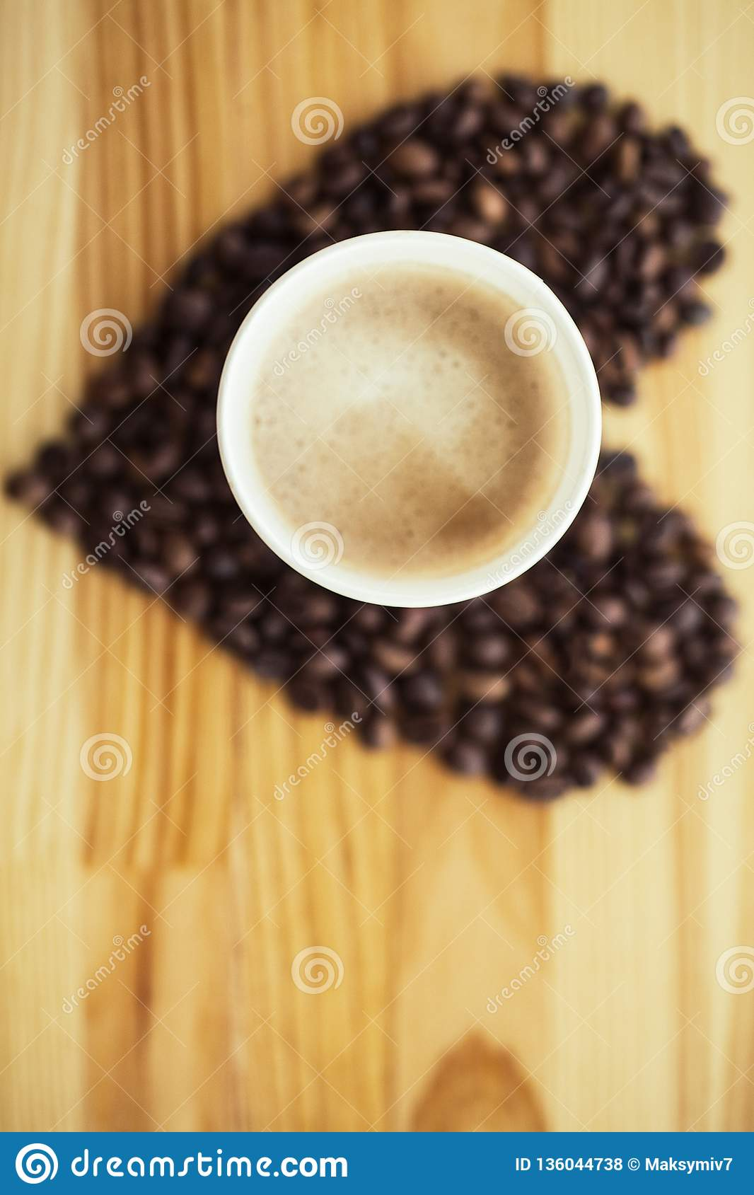 Good Morning Coffee Time Coffee To Go And Beans On A