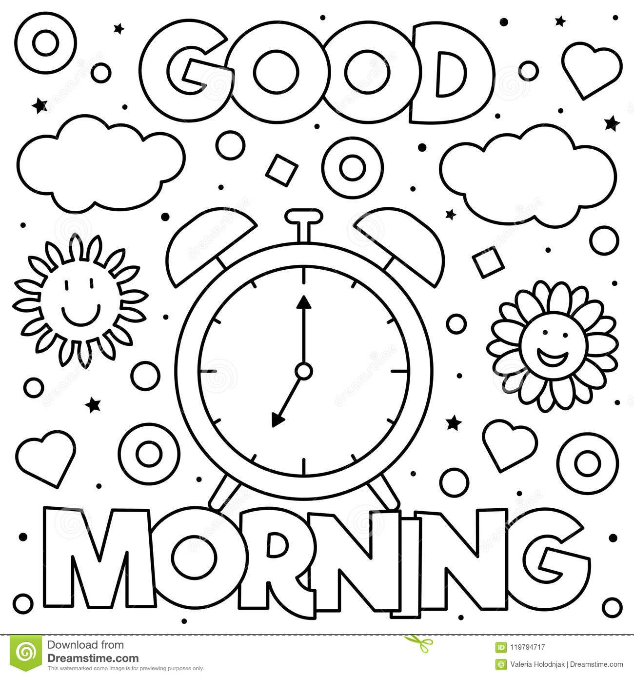 Coloring Page. Vector Illustration. Stock Vector ...