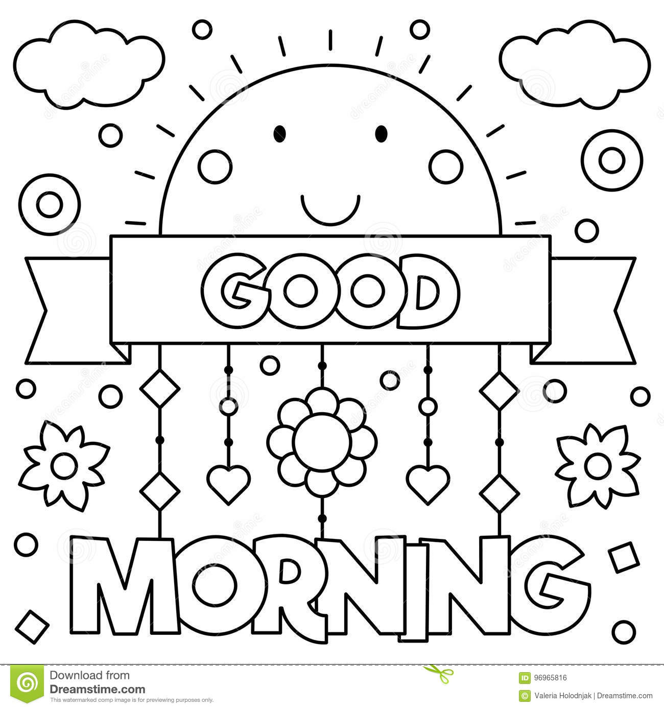 Good Morning Afternoon Coloring Pages