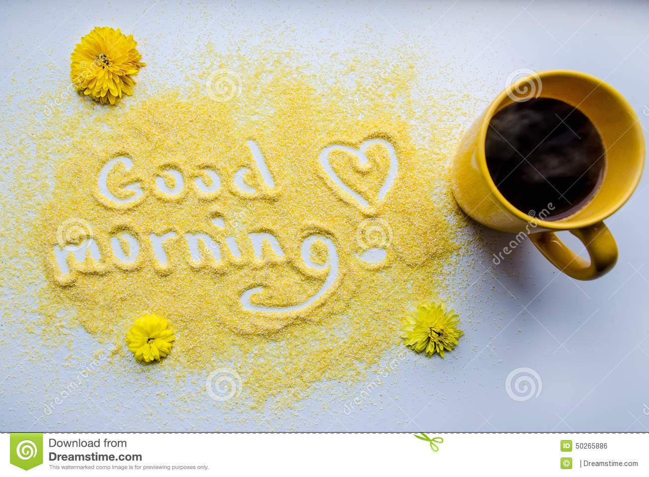 Good morning with a cup of coffee