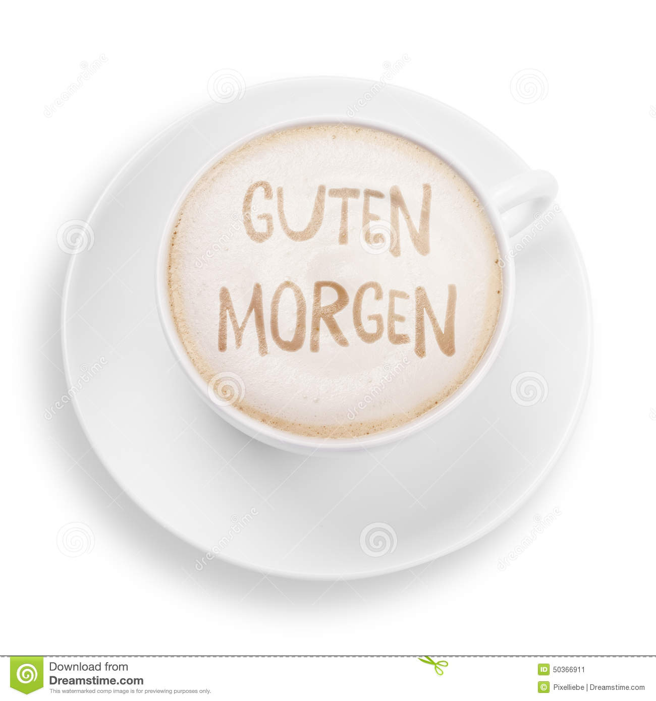 Good Morning Message In German : Good morning stock image of milk cafe