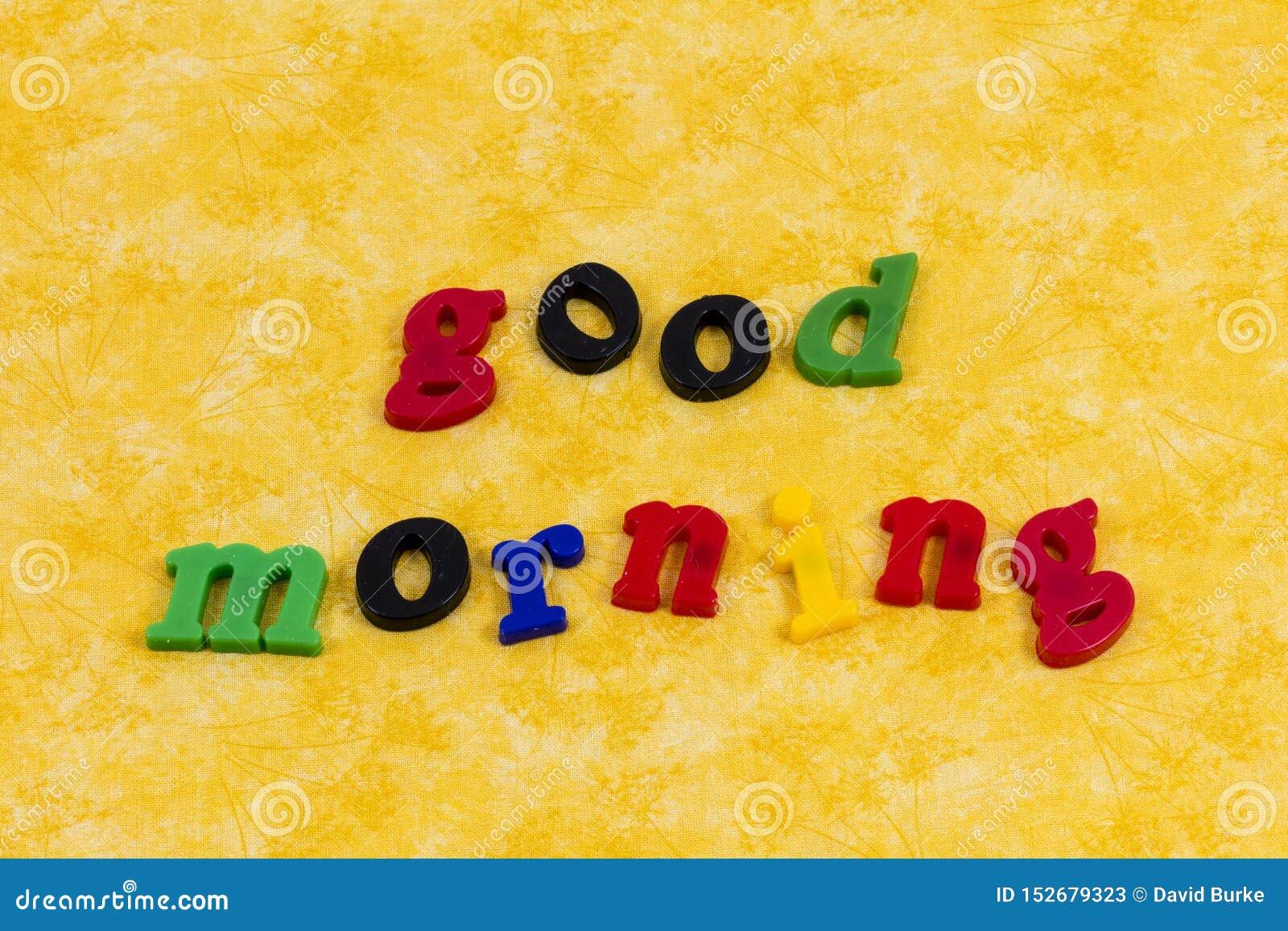 Good morning darling love couple happy greeting sunshine