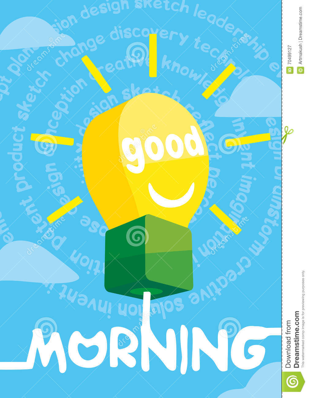 Good Morning Greeting Card Poster Print Vector Illustration